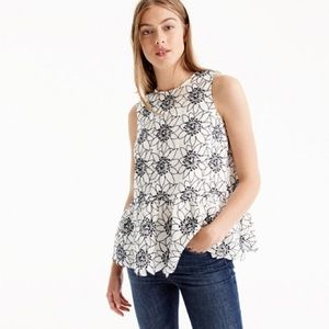 J. Crew Embroidered floral top